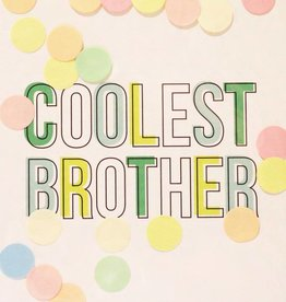The Gift Label The Gift Label Confetti Card Coolest Brother