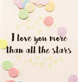 The Gift Label The Gift Label Confetti Card I love you