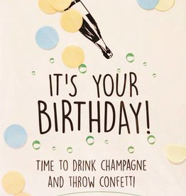 The Gift Label The Gift Label Confetti Card Its Your Birthday