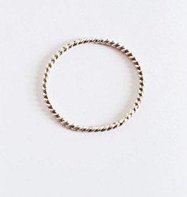 Xzota Xzota RIng Spiral zilver 52