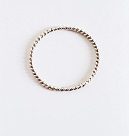 Xzota Xzota RIng Spiral zilver 54