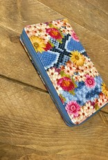 Portemonnee Flower Blauw