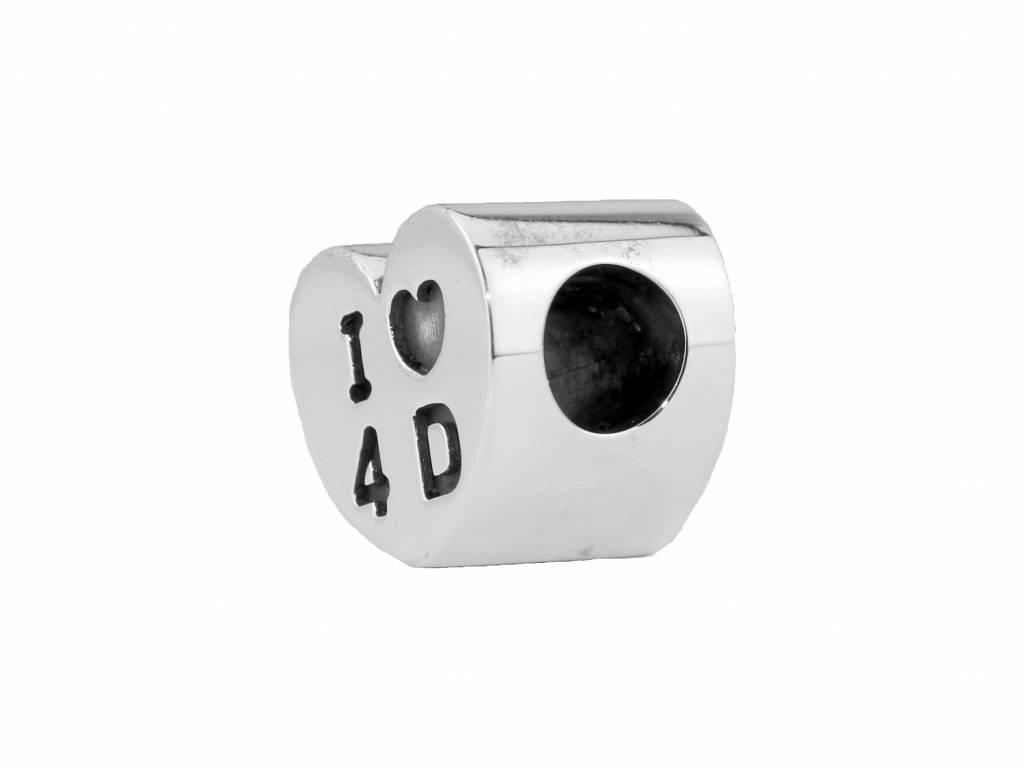 Vierdaagse Bedel I love 4 D charm (silver)