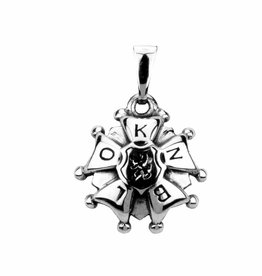 Vierdaagse Bedel Silver 4D-cross pendant (silver)