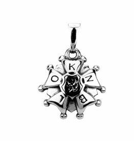Vierdaagse Bedel Zilveren 4D-kruisje hanger