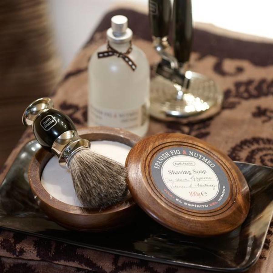 Rasierseife in Holzschüssel - 100g-3
