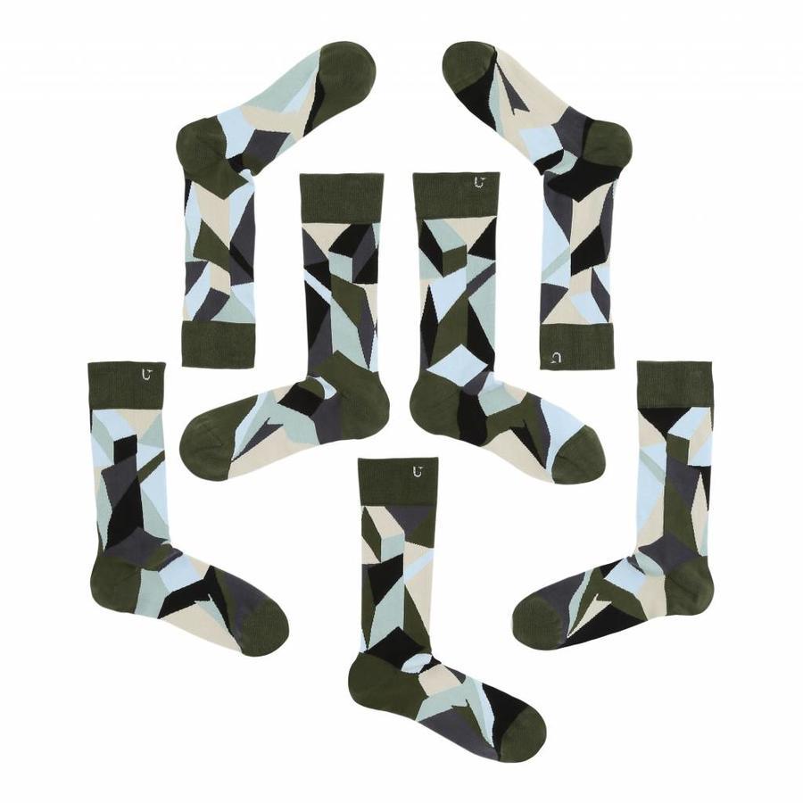 Verschiedene aber passende Socken in anständiges Silber, Azurblau und grün Nuancen.-1