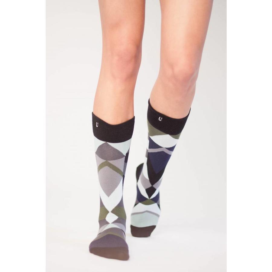 Verschiedene aber passende Socken in anständiges Silber, Azurblau und grün Nuancen.-4