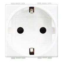 Living light schuko stopcontact, wit