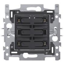 4-voudige drukknop blauwe LED - 170-40160