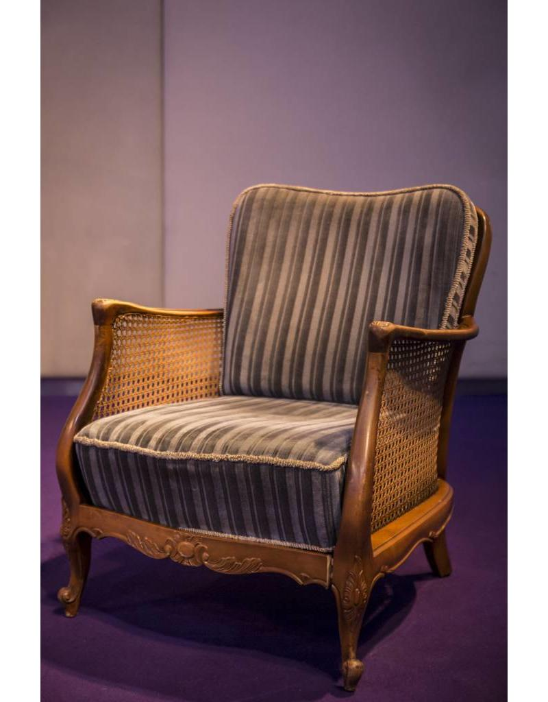 Retro Möbel Blaue Samtgarnitur