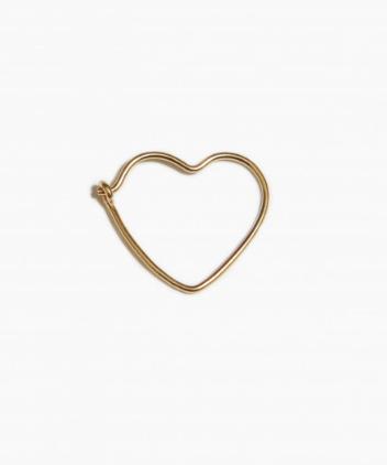 fashionoligy Heart Hoop Earring gold 20 mm