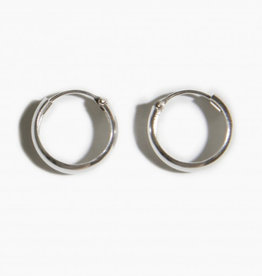 fashionoligy thick hoop earrings silver 12 mm
