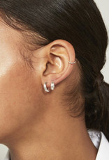 fashionoligy thick hoop earrings silver 12 mm
