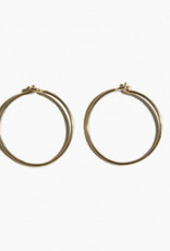fashionoligy Sleeper Hoop Earrings Gold 25mm