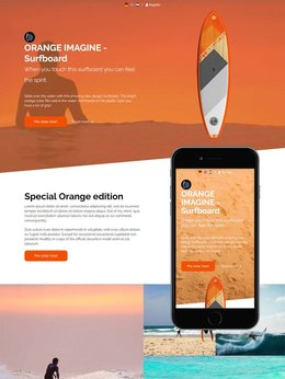 Redbanana one-pager Surfboard