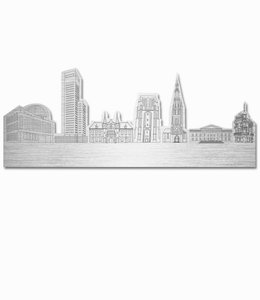 Skyline Leeuwarden vrijstaand metaal - groot
