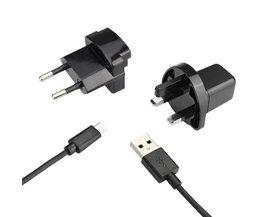 Micro USB-laddare med EU och UK plug