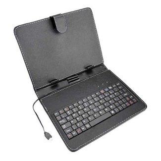 Läderfodral och tangentbord för 8 tums tablett