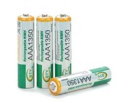 AAA uppladdningsbara batterier (4 st)