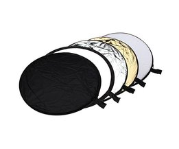 5 i 1 Multi Collapsible Disc Reflector Shape Flash