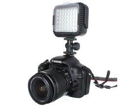 LED-videolampa för Canon och Nikon