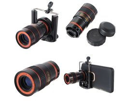 8 x zoom optisk objektiv för smartphone