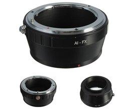 Nikon F AI-objektiv till Fujifilm FX-montering X X-Pro1 X Pro 1 X-E1 kameradapter
