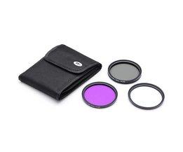 Kamerafilteruppsättning (UV, FLD och CPL) 58Mm