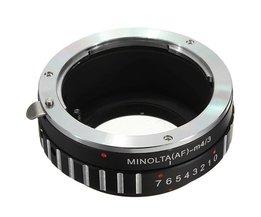 Objektivadapter för Minolta och Sony