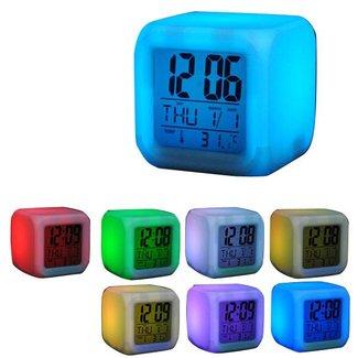 Färgglada Digital LED-klocka med termometer