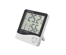 Digital termometer / hygrometer med klocka