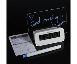 LED väckarklocka med ljusstyrning