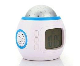 Digital väckarklocka med Starry Sky Projection och LED Night Light
