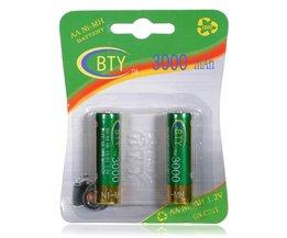 AA uppladdningsbara batterier