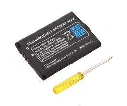 Uppladdningsbart batteri för Nintendo 3DS