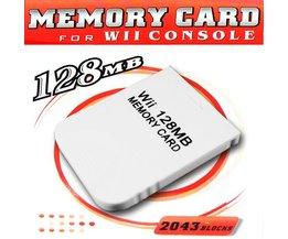 128 MB minneskort för Nintendo Wii och Gamecube