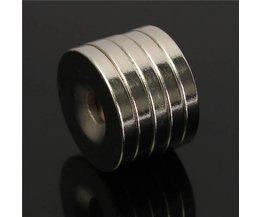 5 stycken N50 Neodym-ringmagneter