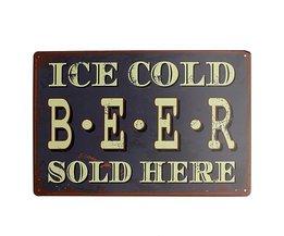 Vintage öl reklam