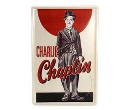 Väggdekoration Metall Charlie Chaplin