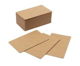 Kraft 100pcs tomma kort för att skapa meddelanden eller anteckningar