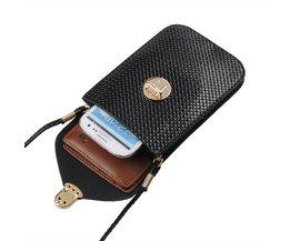 Dam läderväska för smartphone