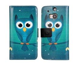 Owl Flip Cover Väska till HTC One M8