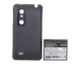 3500 MAh batteri och baksida för LG-telefoner