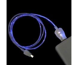 Ljus Micro Micro USB-kabel för mobiltelefoner