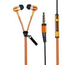 Handsfree in-ear hörlurar för mobiltelefon Zipper Shape