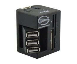 Multifunktions USB Splitter och kortläsare