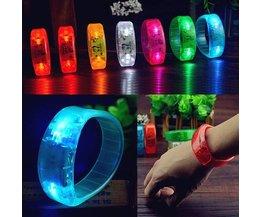 Röststyrd LED-armband
