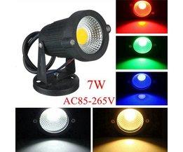 LED-strålkastare med stativ för utvändigt 7W AC85-265V