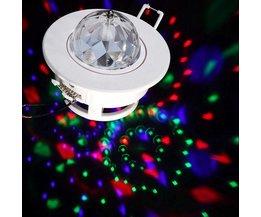3W LED roterande disco lampor